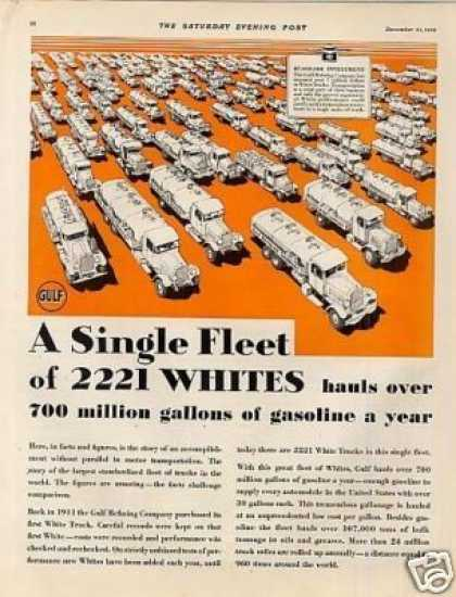White Trucks Ad 2 Page (1929)