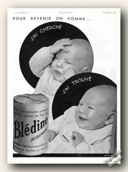 Baby Photos Bledine Jacquemaire Antique French (1934)