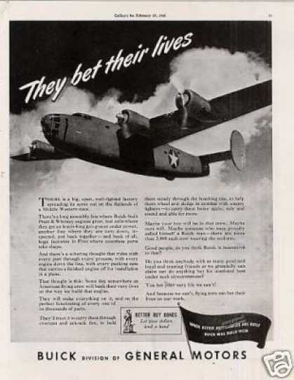 Wwii Buick Ad Bomber Plane (1943)