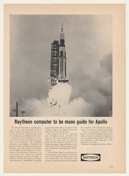 '64 Raytheon Computer Apollo Spacecraft Launch Photo (1964)