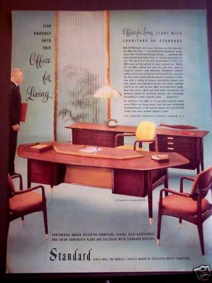 Desk Chair Office Furniture By Standard (1956)