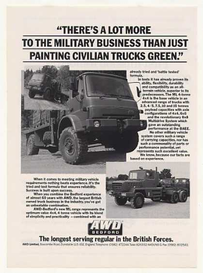 AWD Bedford ML 4x4 Military Truck Photo (1988)