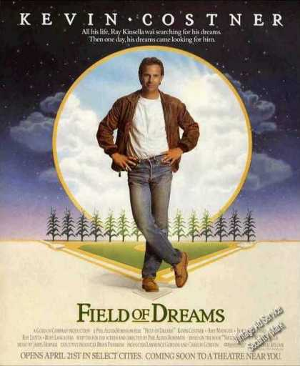 """Field of Dreams"" Kevin Costner Movie (1989)"
