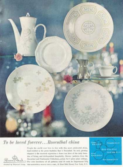 Rosenthal China 5 Design Patterns Photo (1959)