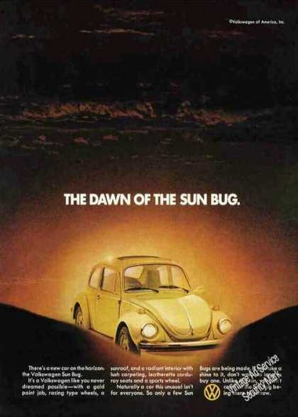 "Vw Volkswagen ""Dawn of the Sun Bug"" (1974)"
