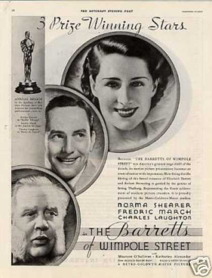 "Movie Ad ""The Barretts of Wimpole Street"" (1934)"