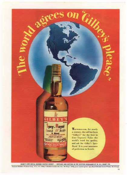 Gilbey's Spey – Royal Scotch Whisky (1948)