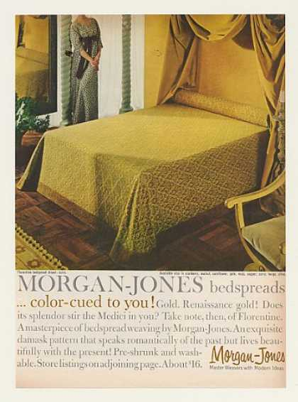Morgan-Jones Gold Florentine Curry Bedspread (1962)