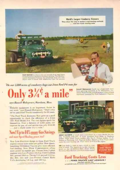 Ford Trucks – A.D. Makepeace Company – Sold (1951)