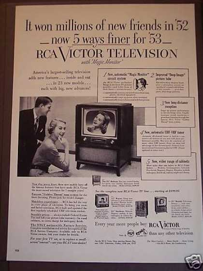 Rca Victor Television Tv Sets (1953)