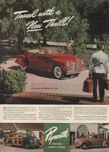 New Thrill Plymouth Builds Great Cars (1941)