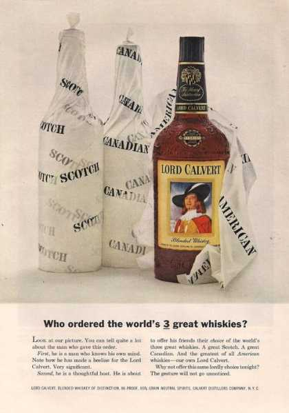 Lord Calvert Blended Whiskey (1957)