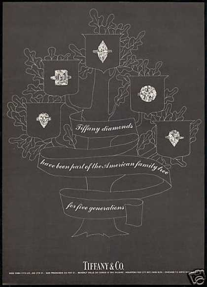 Tiffany & Co Diamonds Family Tree 5 Generations (1968)