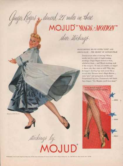 Ginger Rogers Mojud Stockings (1951)