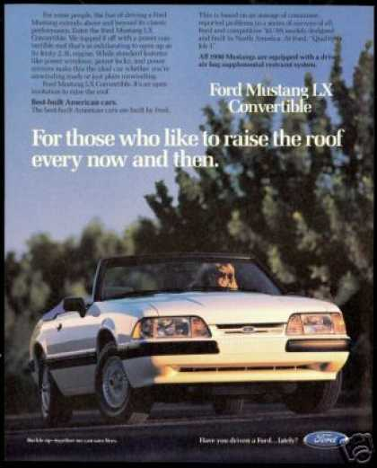 Ford Mustang LX Convertible Vintage Photo (1990)