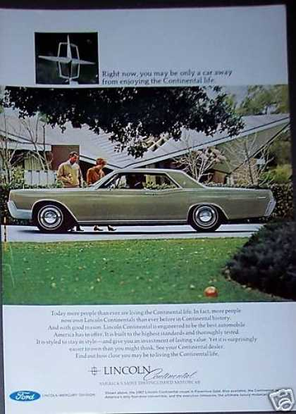 Lincoln Continental Car Automobile (1967)