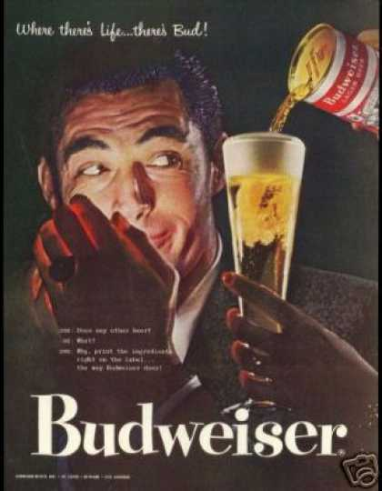 Bud Vintage Budweiser Beer Evening Photo (1957)