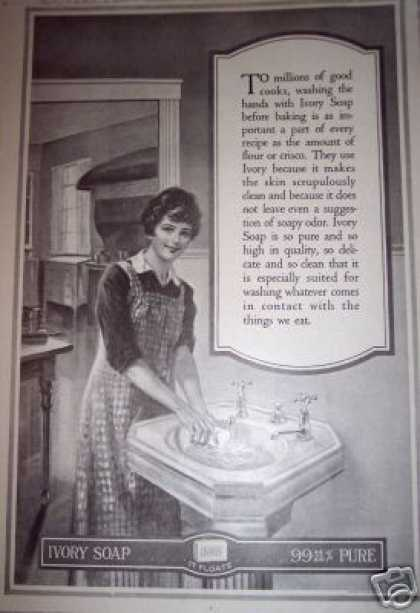 Good Cooks Pure Ivory Soap Retro Art (1917)