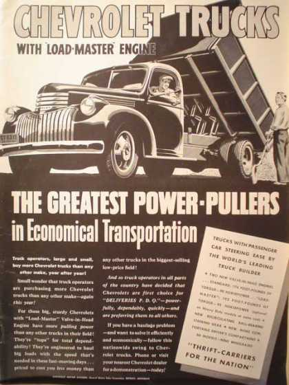 Chevrolet Trucks with Load Master Engine (1941)