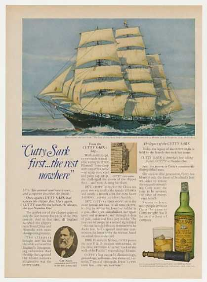 Log of Cutty Sark Clipper Ship Whisky Photo (1969)
