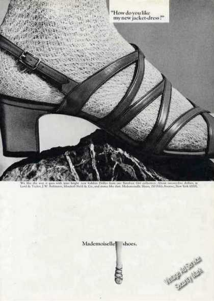 Mademoiselle Shoes Kidskin Dollys (1967)