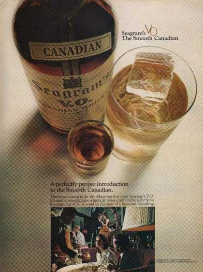 Seagrams Vo Canadian Whisky (1969)