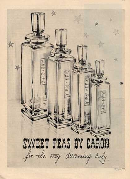 Caron Perfume Bottles Art (1952)