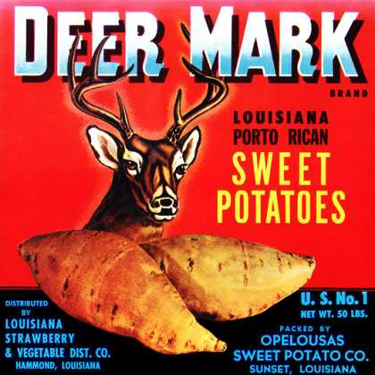Deer Mark Sweet Potatoes, c. s (1940)