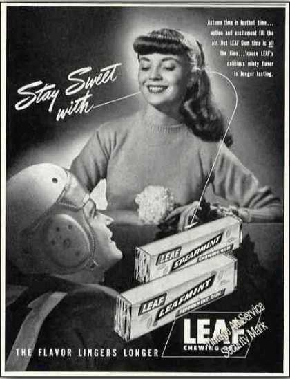 Leaf Spearmint Chewing Gum Collectible (1947)