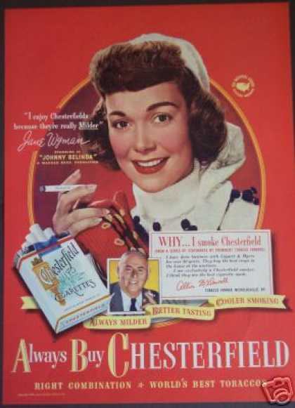 Jane Wyman In Johnny Belinda Cigarette / Movie (1948)
