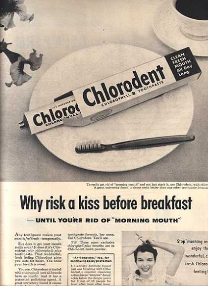 Chlorodent's Chlorophyll Toothpaste (1953)