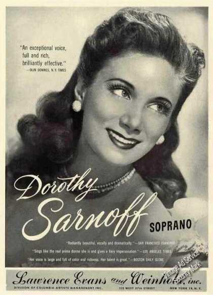 Dorothy Sarnoff Photo Soprano Trade (1949)