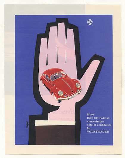 VW Volkswagen Beetle Bug Vote of Confidence (1958)