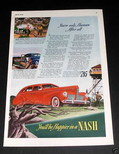 Nash Automobile Magazine Ad, Exc (1940)