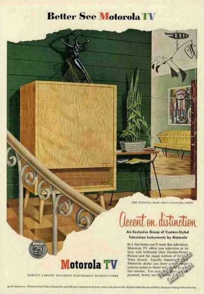 "Motorola Tv ""Accent On Distinction"" (1953)"