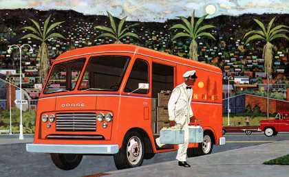 Dodge P300 Forward Control chassis for route delivery (1960)