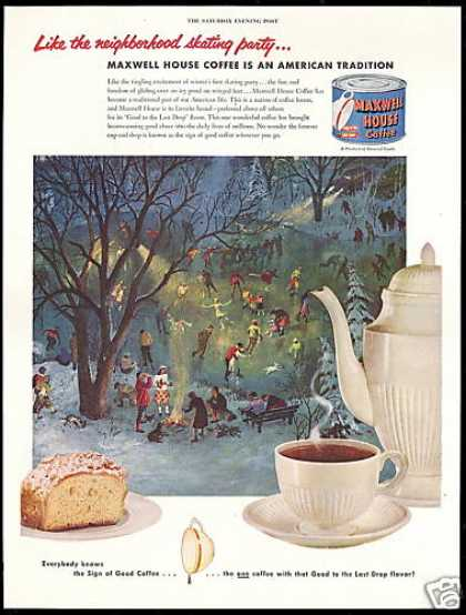 Maxwell House Coffee Ice Skating Party (1952)