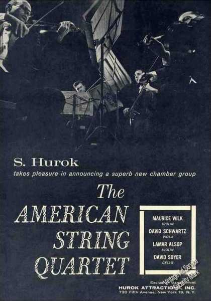 The American String Quartet Photo Booking (1962)