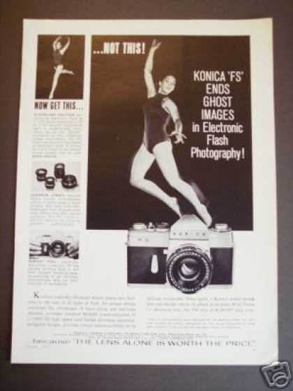 Original Konica Fs Slr 35mm Camera Photo (1961)