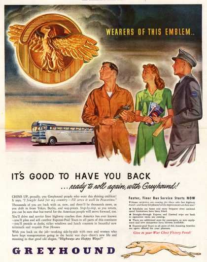 Greyhound – Wearers Of This Emblem.. It's Good To Have You Back (1945)