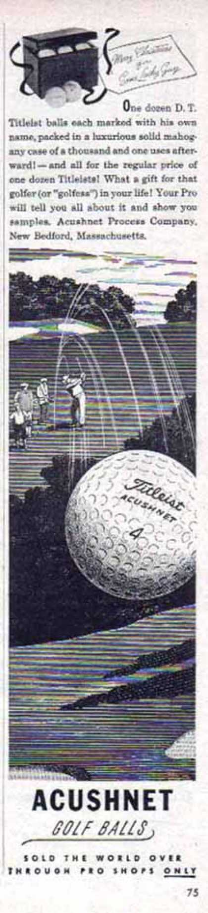 Titleist Acushnet Golf Ball – New Bedford, Massachusetts (1949)