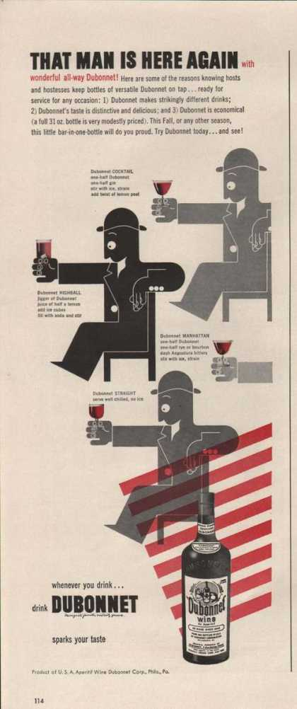 That Mans Is Here Again Dubonnet Wine Prin (1942)