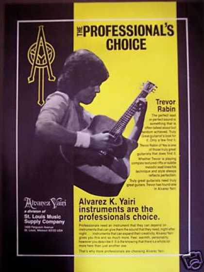 Trevor Rabin Photo Alvarez Yairi Guitars (1986)