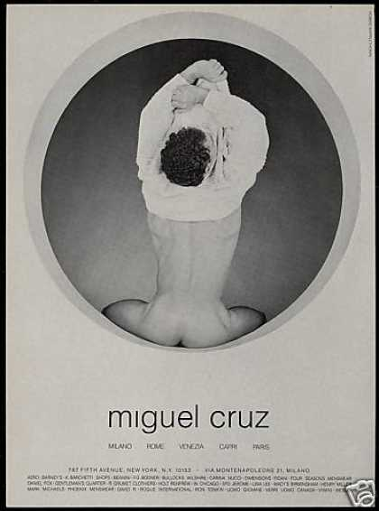 Miguel Cruz Fashion Nude Man Photo (1987)