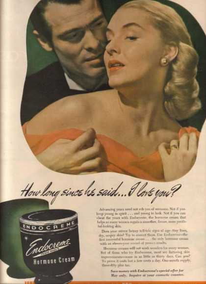 Endocreme's Hormone Cream (1948)
