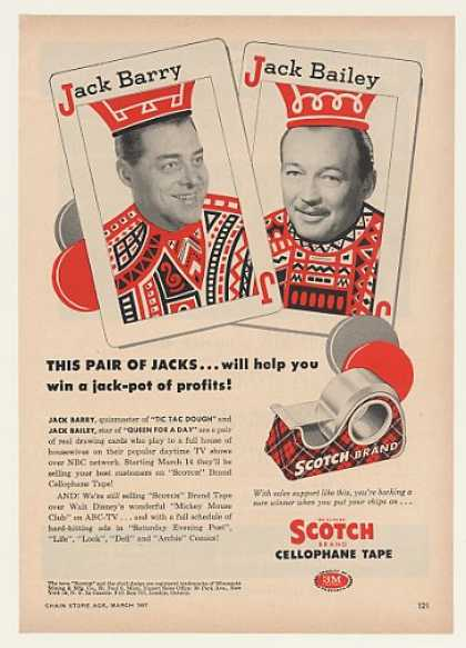 Jack Barry Jack Bailey 3M Scotch Tape Trade (1957)
