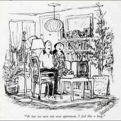 "Weber New Yorker Printcartoon ""King Own Apartment"" (1986)"