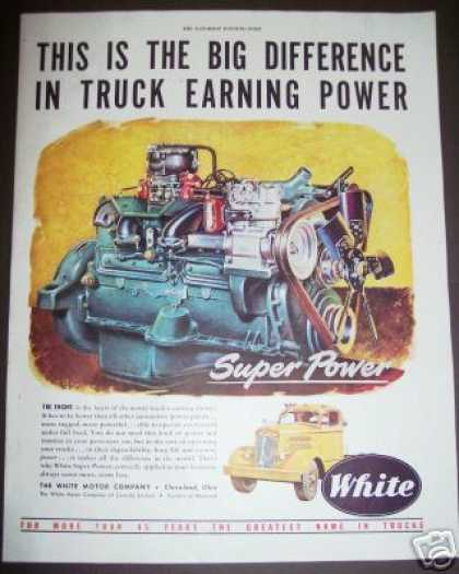 Original White Trucks Tractor Engine (1949)
