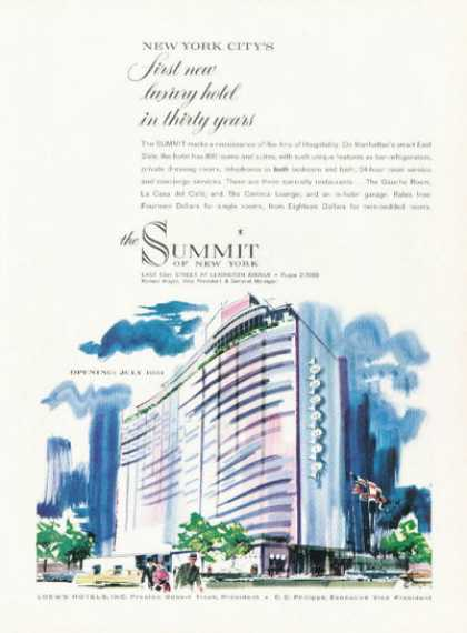 Loew Hotel New York Summit Opening (1961)