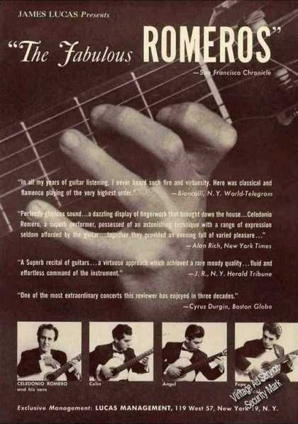 The Fabulous Romeros Guitarists Photos (1962)